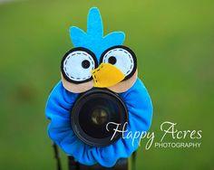 Lens Bling - Light blue bird- Ready to Ship
