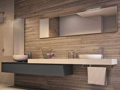 Descarga el catálogo y solicita al fabricante Cubik   mueble bajo lavabo con espejo By ideagroup, mueble bajo lavabo suspendido con espejo, Colección cubik