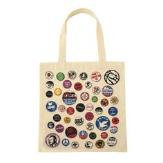 You Say You Want a Revolution Exhibition Tote Bag. Inspired by protest pins from the 60s and 70s.