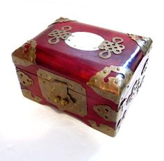 Vintage Oriental Jewelry Box