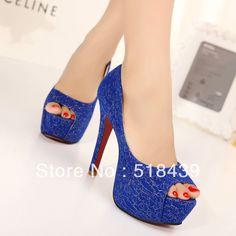 New Women Pumps Fashion Sapatos Femininos High Heels Peep Toe Platform Pumps Sandalias Shoes For Women Sexy Party Wedding Shoes