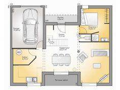 Plans de maison rdc du mod le la villa maison moderne for Chambre contemporaine