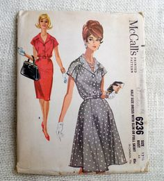 Vintage Pattern McCall's 6236 dress sewing by momandpopcultureshop, $24.00
