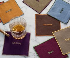 Julia B. Booze Cocktail Napkins make a great gift for any bar...