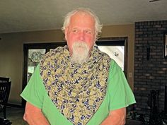 Special Needs Drooling bandana  Special Needs Large Bandana  Ties in back Cotton and terry cloth.  Designed as a cover up for heavy drooling