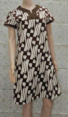 Hshs Model Dress Batik, Batik Dress, Patchwork Dress, Dress Batik Kombinasi, Kebaya Dress, Blouse Batik, Batik Fashion, Gala Dresses, African Dress