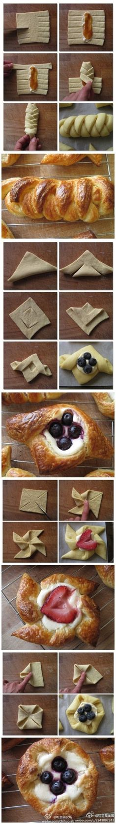Pastry Folding Hacks Community Post: 40 Creative Food Hacks That Will Change The Way You Cook Köstliche Desserts, Dessert Recipes, Fun Recipes, Plated Desserts, Delicious Recipes, Recipe Ideas, Snacks Für Party, Baking And Pastry, Creative Food