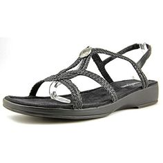 Minnetonka Ava Women US 9 NS Black Slingback Sandal *** Visit the image link more details.(This is an Amazon affiliate link and I receive a commission for the sales)