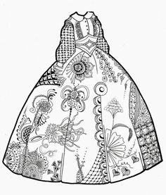 91 Clothing Dress Coloring For Adults Art Pages Ideas Coloring Book Pages Coloring Pages Coloring Books
