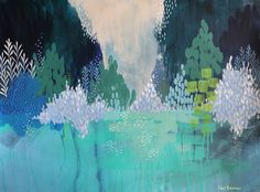 """""""On The Lake"""" by Clair Bremner. Paintings for Sale. Bluethumb - Online Art Gallery"""