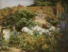 The Lily Garden - James Valentine Jelley Birmingham Museums Trust James Valentine, Spa Art, Birmingham Museum, Pintura Exterior, Museum Art Gallery, English Country Gardens, Traditional Landscape, Art Uk, Your Paintings