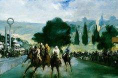 Courses à Longchamp - Edouard Manet #Painting #art #CireTrudon