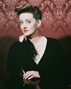 Bette Davis - Hair & Plung Gown www.carolrichelle.com