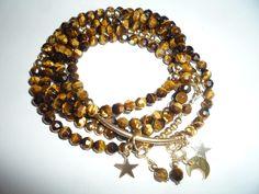 Wrap bracelet, Gemstone bracelet, Bracelet/Necklace, Long necklace, Gemstone necklace, Tigers eye gemstone bracelet, Tigers eye necklace