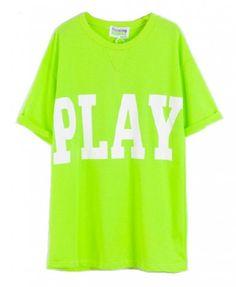 PLAY Print Loose Green T-shirt