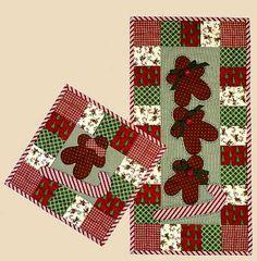 ~ Cookie Dough Wall Quilt, Hot Mat & Tablerunner ~ All three patterns