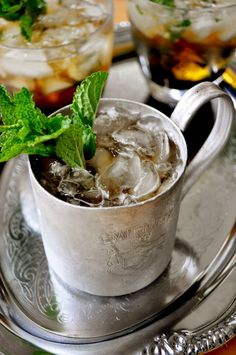 Southern Sweet Tea and Mint