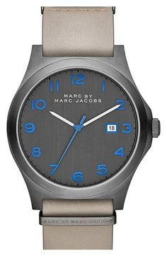 917f5c9e54c MARC BY MARC JACOBS  Jimmy  Leather Strap Watch