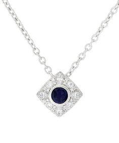 This Iolite & Diamonique® Pendant Necklace is perfect! #zulilyfinds