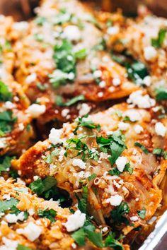 Skillet Chicken Tortilla Pie