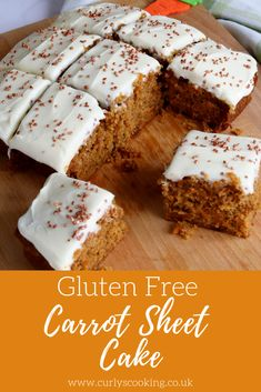 My Gluten Free Carrot Sheet Cake is tried and tested by my chief coeliac taste tester. This is a gluten free version of my most popular cakes. Gluten-Free Apple Turnovers The Best Soft Gluten Free Sandwich Bread Gluten Free Carrot Cake, Gluten Free Deserts, Gluten Free Sweets, Gluten Free Cakes, Foods With Gluten, Gluten Free Cooking, Dairy Free Recipes, Free From Recipes, Gluten Free Dinner