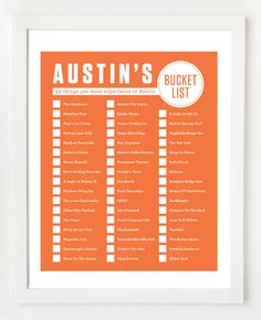 Austin Bucket List! Which items do you want to check off first?