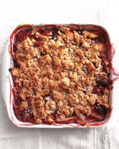 Peach Crumble For an even sweeter summer, take advantage of the season's perfectly ripe peaches in this easy crowd-pleaser of a dessert. The topping freezes well, so why not make a double batch and save half for another day?