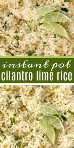 Instant Pot cilantro lime rice is so fluffy & full of lime and cilantro flavor, and is quick & easy Instant Pot recipe. Just a few simple ingredients and you have the perfect side dish to any meal. Instant Pot Dinner Recipes, Side Dish Recipes, Taco Side Dishes, Recipes Dinner, Pasta Recipes, Soup Recipes, Chicken Recipes, Recipies, Dessert Recipes