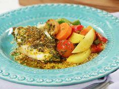 Fisktagine med citron och saffran   Recept från Köket.se Zeina, Couscous, Cantaloupe, Eggs, Meat, Chicken, Fruit, Breakfast, Recipes