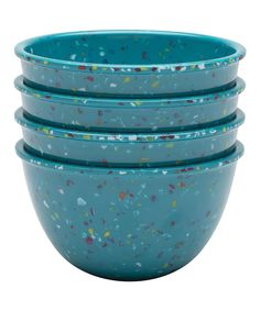 Look at this Zak Designs Azure Confetti Pub Prep Bowl - Set of Four on #zulily today!
