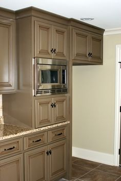 Brandi look at this option for coffee bar- an appliance garage instead.