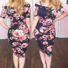 Amanda Floral Dresss – Glam Addict Boutique