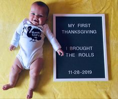 First thanksgiving letter board- baby's first thanksgiving board Baby Milestones, Milestone Pictures, Milestone App, Milestone Chart, Monthly Baby Photos, Monthly Pictures, Baby Boy Pictures, 6 Month Baby Picture Ideas Boy, 3 Month Old Baby Pictures