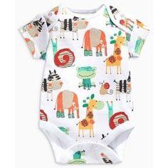 Bright Animals Short Sleeve Bodysuits Three Pack (0mths-2yrs)
