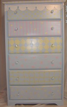 Image detail for -Painted Furniture Custom Children Furniture Hand painted Baby Girl ...