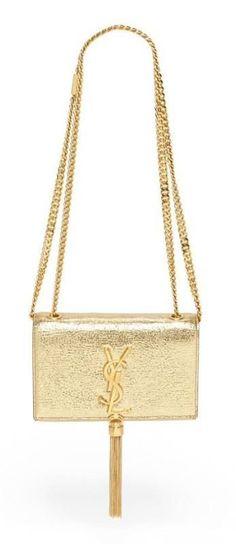 Saint Laurent Metallic Leather Crossbody Bag