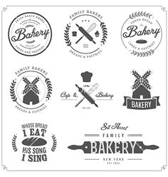 Set of bakery labels badges and design elements vector - by ivanbaranov on VectorStock®