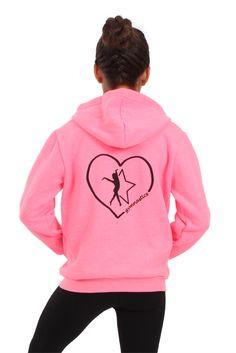 Girls Heart Gymnastics Sweatshirt #flipnfit #lovegymnastics #heartgymnastics #gymnast #gymnasticsapparel #sweatshirt #gymnasticssweatshirt | FlipNFit.com $34.99
