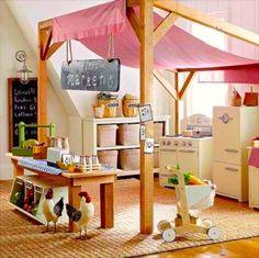 MERCADINHO   inspiração para quem deseja criar um tema para o playroom. Inspire-se! #TecnisaDecor #Playroom #Kids #DiadasCrianças #Inspire-se #Tecnisa Foto: BuzzFeed