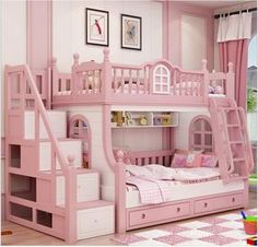 Cheap bunk bed, Buy Quality bed girl directly from China princess bed Suppliers: bunk bed pink childern bed Solid wood bady fluctuation bed girl princess bed Bed For Girls Room, Little Girl Rooms, Girls Bedroom, Girls Bunk Beds, Trendy Bedroom, Kid Beds, Kids Bedroom Designs, Kids Room Design, Bed Design
