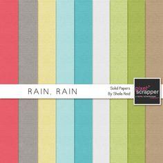 Rain, Rain Solid Papers Kit by Sheila Reid:)