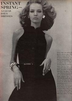 Verushka wearing Geoffrey Beene  Vogue - March 15th, 1967  Photographed by Franco Rubartelli
