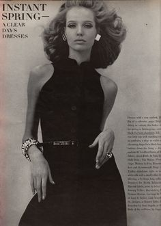 Verushka wearing Geoffrey Beene   Vogue - March 15th, 1967  Photographed by  Franco Rubartelli