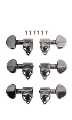 Guitar Parts WILKINSON MINI ROTOMATIC Roto 6 In Line BLACK TUNERS SET