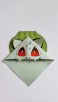 Handmade Bulbasaur Style Bookmark