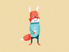 Fox illustration by Nicholas Hendrickx (ukaaa)