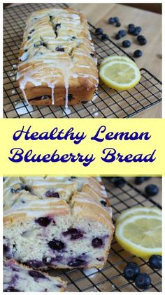 Healthy Lemon Blueberry Bread - Less Sugar But All The Flavor  sponsored