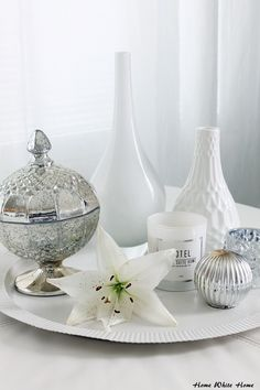 Decor details - White and silver