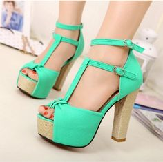 Online Inquire new arrivals womens sexy high heels sandals shoes drop ship dilys shoes store Apricot green rose 010