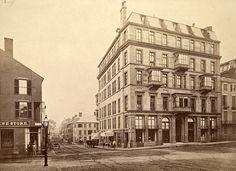 Corner of Tremont and Boylston streets, Boston, Mass, circa 1859